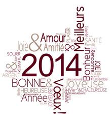 Carte de vœux 2014 joyeuse