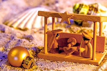 Weihnachtskrpipe am Strand