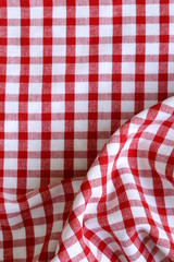 kitchen towel in the red checkered - use as a background
