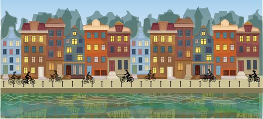 Amsterdam city urban landscape