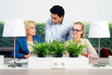 Environmentalists Discussing In Office