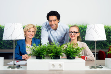 Portrait Of Confident Environmentalists In Office