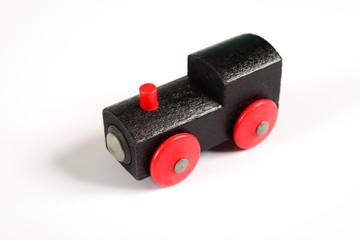 Siyah Ahşap Lokomotif