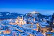 Salzburg in winter, Salzburger Land, Austria