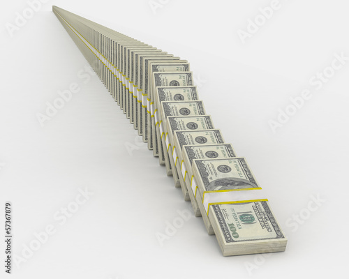 100 Dollar Bill Domino