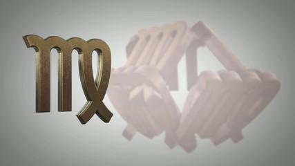 Virgo zodiacal symbol