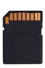 black sd memory card