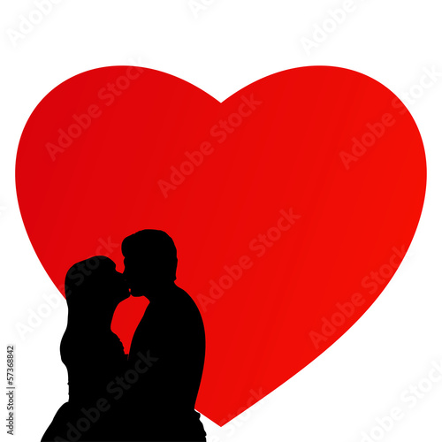 Heart wedding couple