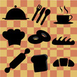 nine silhouettes for bakery