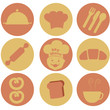 nine bakery icons