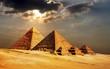 Leinwanddruck Bild - giza pyramids, cairo, egypt