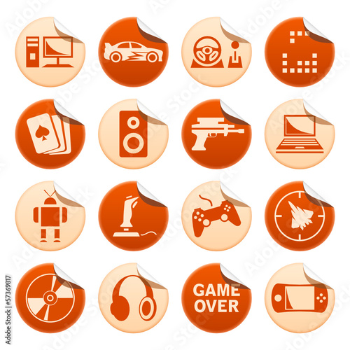 Computer games stickers