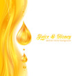 Honey colors juicy vector background with drops