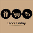 three icons for black friday
