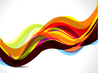 colorful wave with shadow