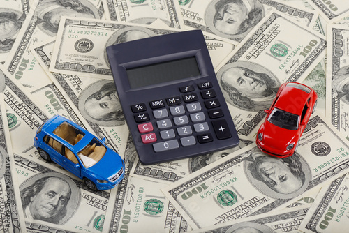 Calculator and car toys among the dollars
