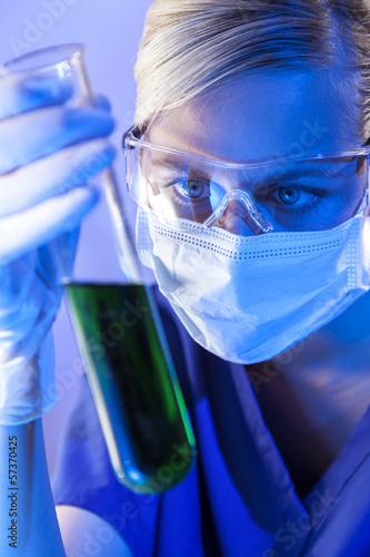 Female Scientist Doctor In Laboratory