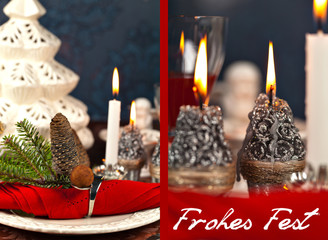 """Einladung Weihnachtsessen """"Frohes Fest"""""""