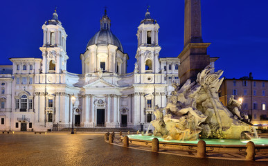 P. Navona, S. Agnese e la Fontana dei Fiumi, Roma