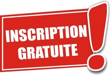 étiquette inscription gratuite