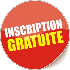 étiquette inscription gratuite