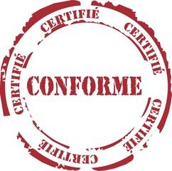 tampon certifié conforme