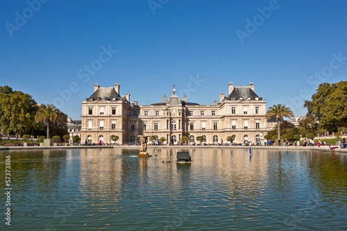 Luxembourg Palace and Luxembourg gardens in Paris