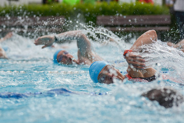 Schwimmer bei Triathlon