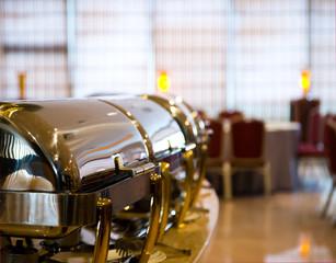 Many buffet heated trays