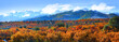 Panoramic view of Kebler pass landscape