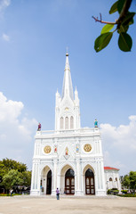 White catholic church in Samutsongkram Thailand3