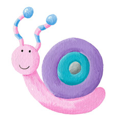 Funny colorful snail