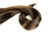 Fototapety Shiny brown hair isolated on white