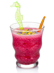 Fruit smoothie with black currant isolated