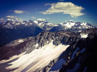 Whistler peak during summer in BC Canada