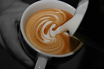 Latte Art | Blatt eingießen