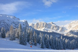 Ski resort of Selva di Val Gardena, Italy