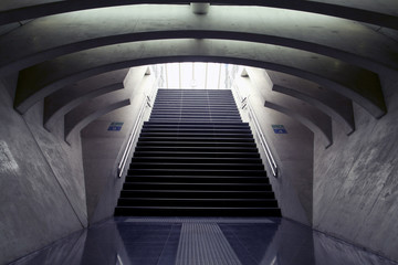 Design stairs, on station luik belgium.