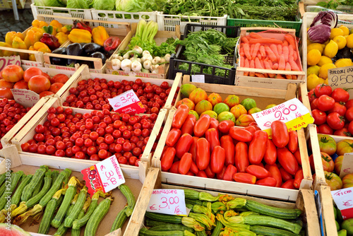 Fresh vegetables for sale