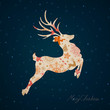 Vector Illustration of a Stylized Christmas Reindeer