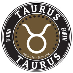 Taurus zodiac  label