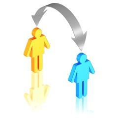 Austausch von Ideen, Personal oder Identitäten