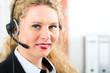 Junge Frau vom Kundenservice