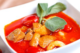 Asian food-geang phed ped yang lychees