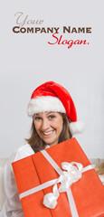 Funny female Santa