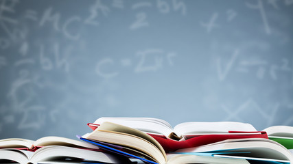 Open Textbooks with a Background of Formulas