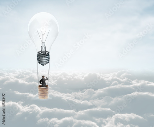 air baloon with lamp