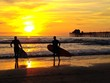 Surfers Sunset Oceanside Pier Beach San Diego California USA