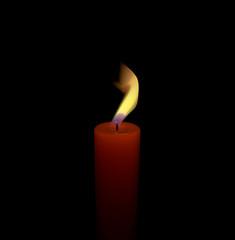 Candela fiamma luce cera stoppino
