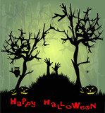 illustrazione macabra per halloween